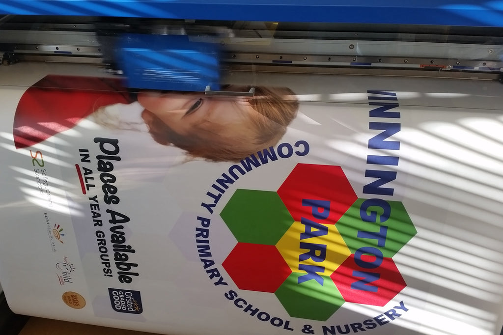 Northwich Schoolwear producing High Quality Banners and Flyer for the Local Community