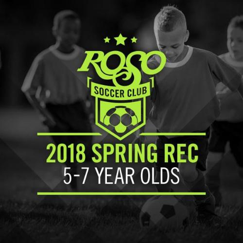 2018 Rec Soccer 5-7 Year Old Group