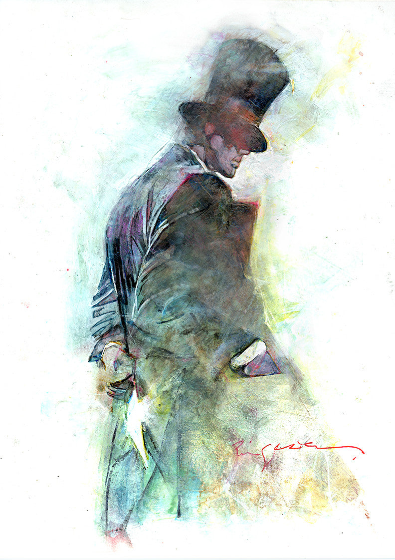Hatter Watercolor print