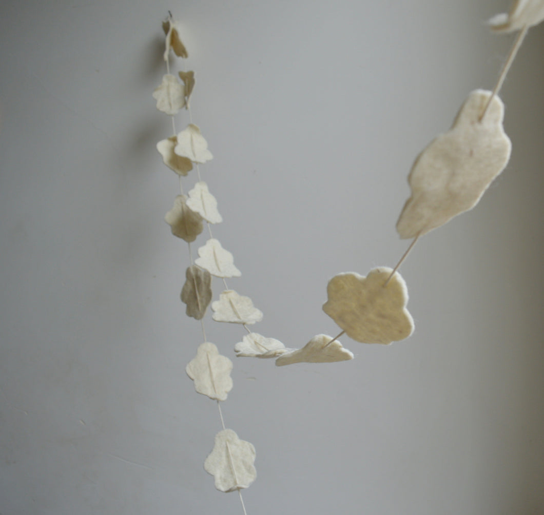 Clouds Garland - 100% Wool Felt
