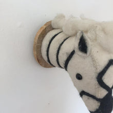 Faux Taxidermy Zebra - 100% Wool Felt Wall Mounted Animal Head Décor.