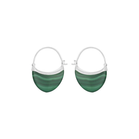 E-030 | Small Malachite Earrings