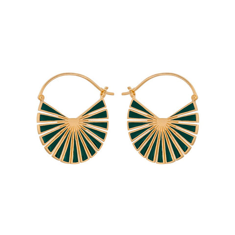 E-593 | Flare Green Earrings