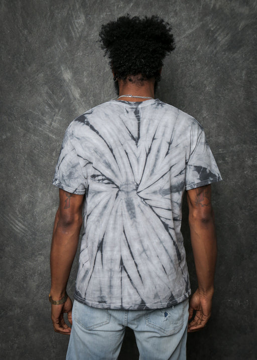 Men's Spider Grey Tie Dye Tee