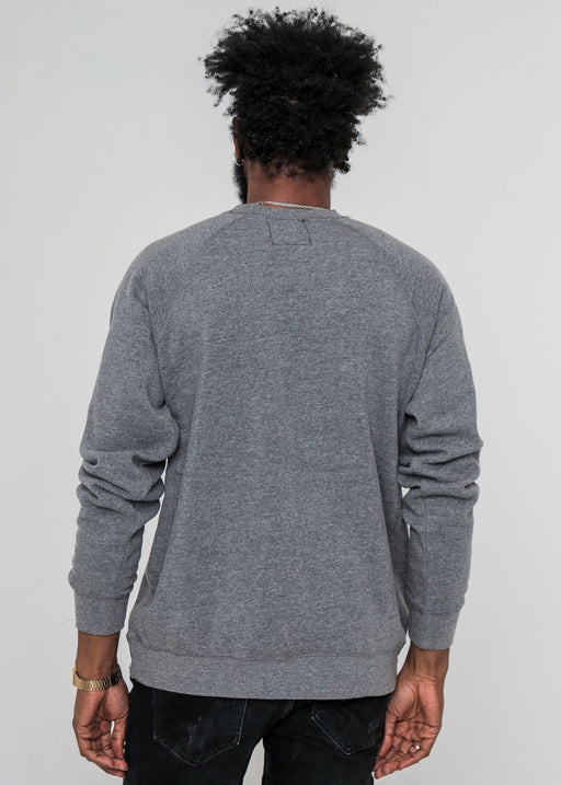 Men's Heather Grey Raglan Crewneck Sweatshirt