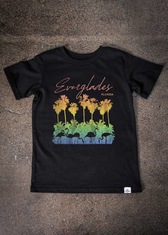 Everglades Kid's Black T-Shirt