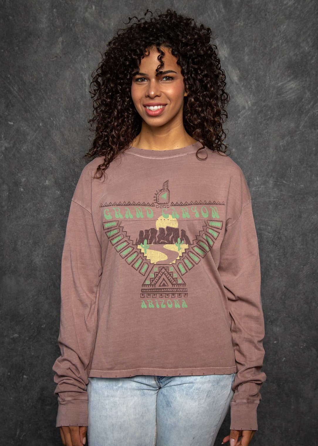 Grand Canyon Mauve Boyfriend Long Sleeve
