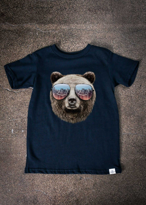 Grizzly Shades Kid's Navy T-Shirt