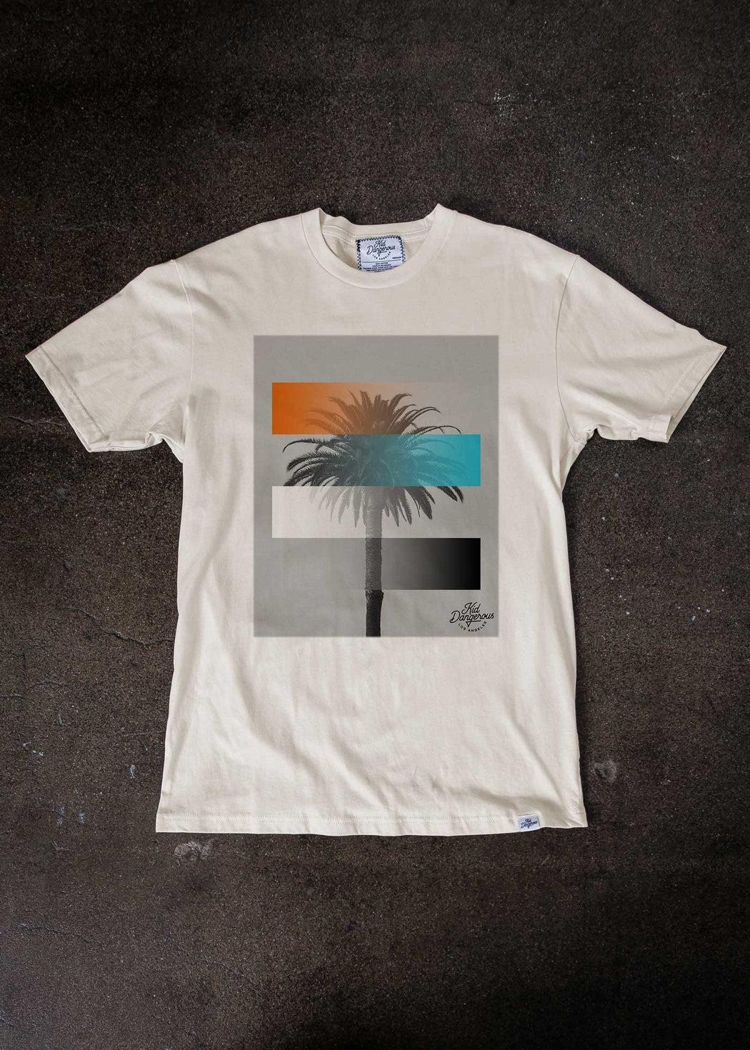 Palm Gradient Antique White T-Shirt