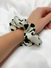 White Cheetah Scrunchie