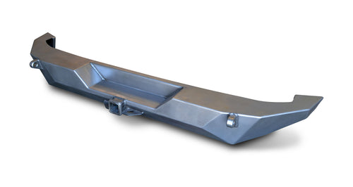 JK Brawler Full Width Rear Bumper With Shackle Tabs Bare Steel 17-62-040-D Poison Spyder