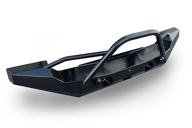 JK Brawler Full Width Front Bumper with Brawler Bar and Shackle Tabs Black Steel 17-64-020-DBTP1 Poison Spyder
