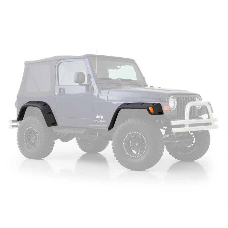 Jeep TJ Front Fender Flare 6 Inch 97-06 Wrangler TJ Driver Side Paintable Each Smittybilt