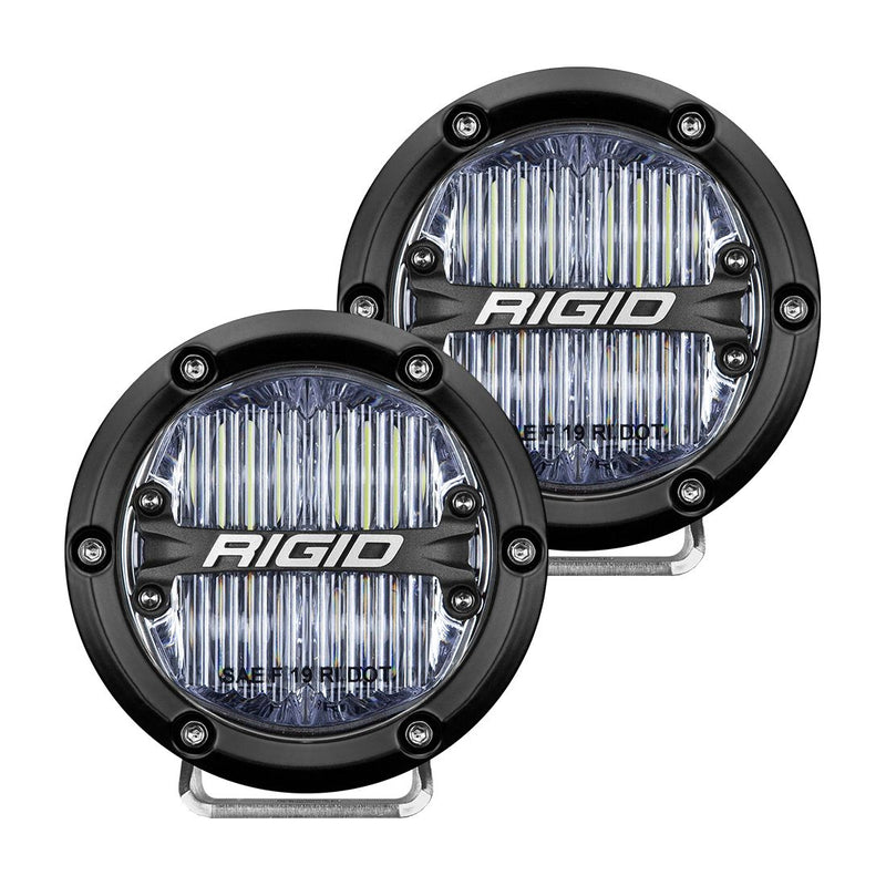 360-Series 4 Inch Sae J583 Fog Light White Pair RIGID Industries