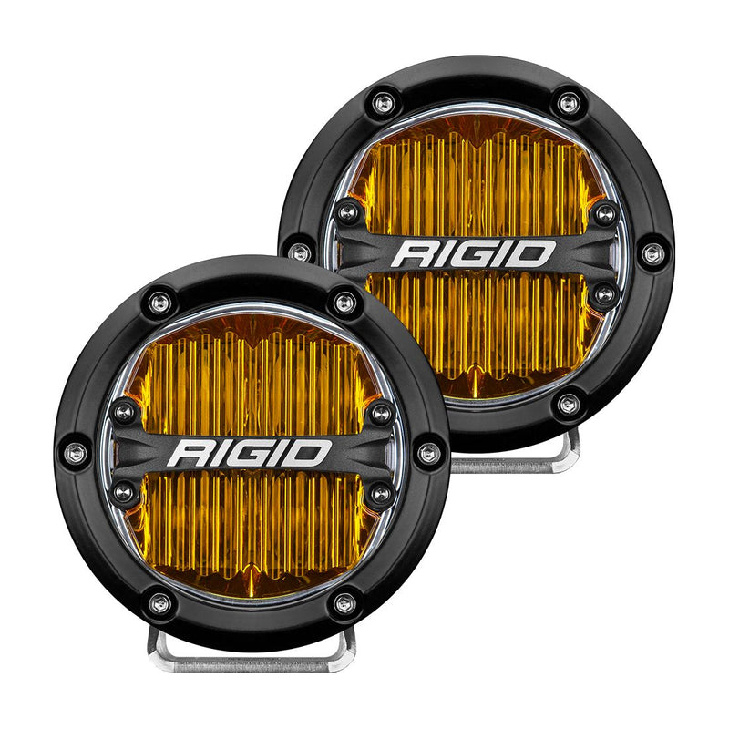 360-Series 4 Inch Sae J583 Fog Light Selective Yellow Pair RIGID Industries