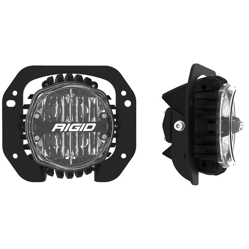 Jeep JL/Gladiator Bumper Fog Mount Kit For 18-20 Jeep JL Rubicon/Gladiator 1 Piece Plastic With 360-Series 4.0 Inch SAE Lights RIGID Industries