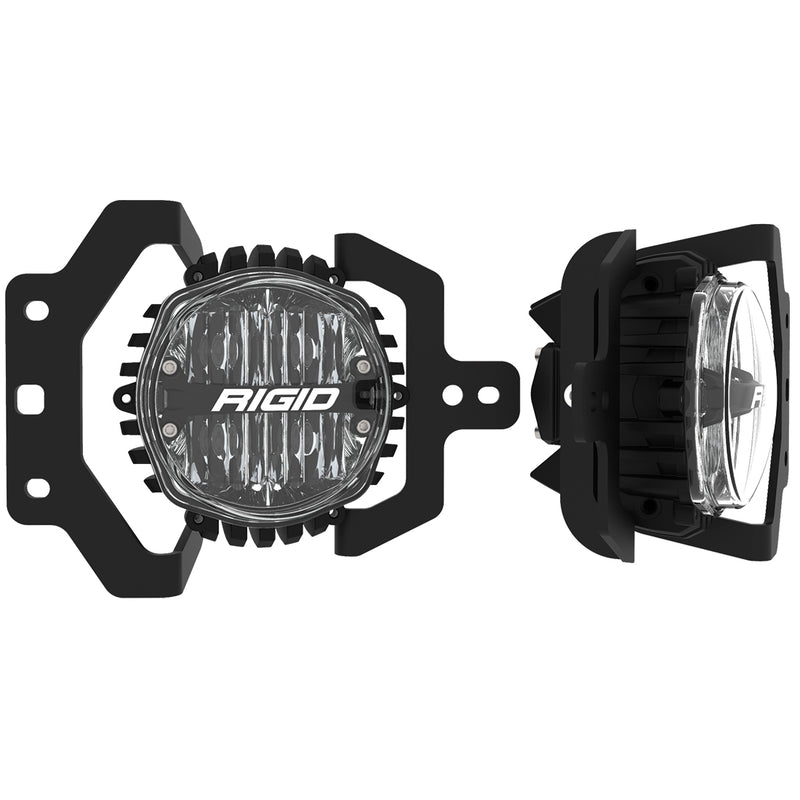 Jeep JL Fog Mount Kit For 18-20 Jeep JL Sport/Sport S W/1 Set 360-Series 4.0 Inch SAE Lights RIGID Industries