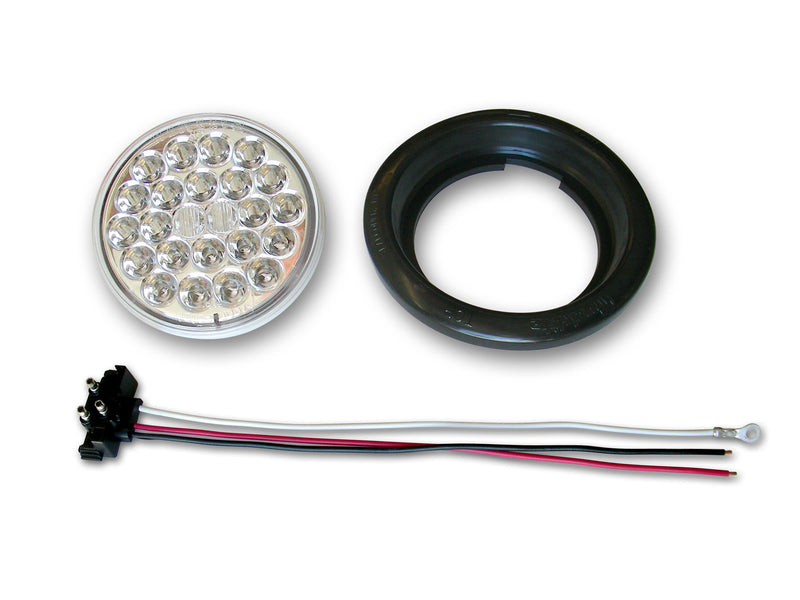 4 Inch Clear 24-LED Taillight W/Pigtail/Grommet (Each)
