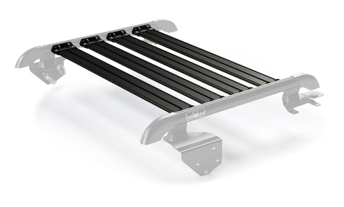 Jeep JK 2 Door Nebo Roof Rack 4-Piece Cargo Slat Kit Black 07-18 Wrangler JK TeraFlex 4722062