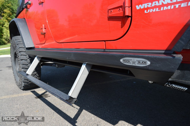 Jeep JK Side Step Slider Set For 07-18 Wrangler JK 4 Door Models Set Rock Slide Engineering