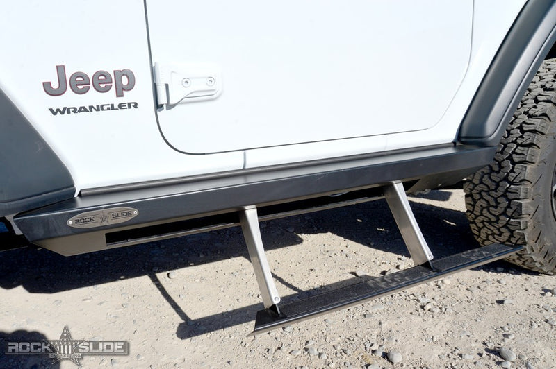 Jeep JL Side Step Sliders For 18-Pres Wrangler JL 2 Door Models Set Rock Slide Engineering