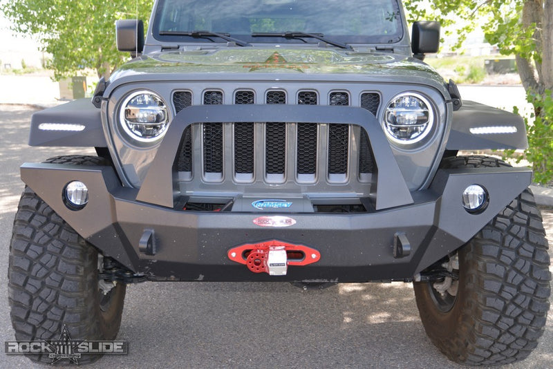 Jeep JL/JT Full Front Bumper For 18-Pres Wrangler JL/Gladiator Rigid Series Complete With Winch Plate Rock Slide Engineering