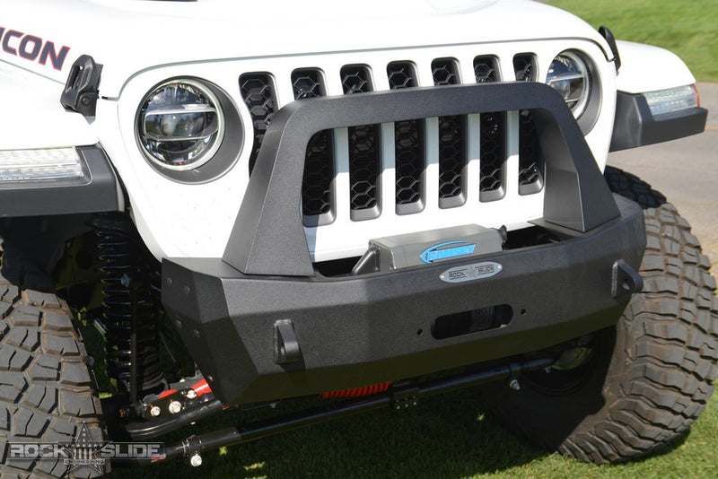 Shorty Front Bumper For 18-Pres Wrangler JL Complete With Winch Plate Rigid Series