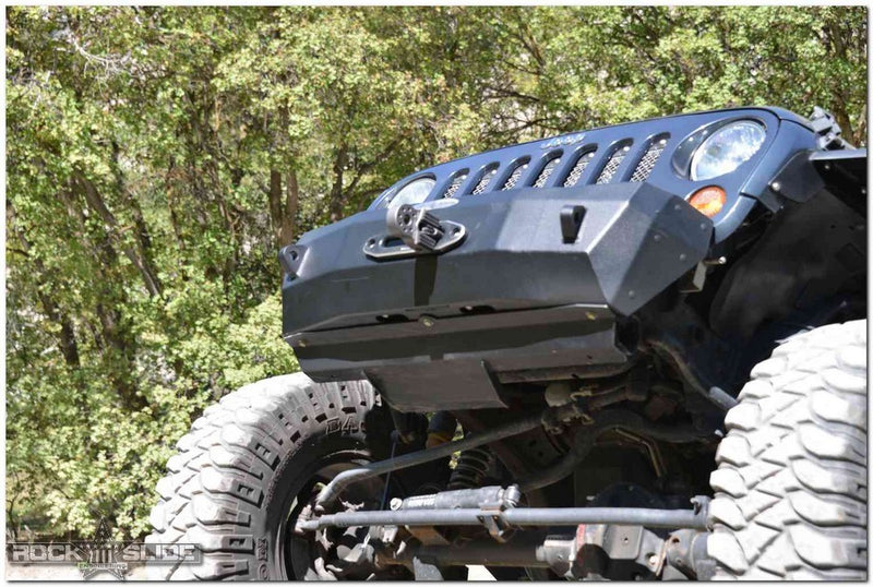 Front Bumper Skid Plate For 07-18 Wranger JK Rigid Series Steel Powdercoat Black