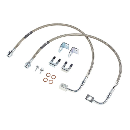 JK Front Brake Line Set 24 Inch Stainless Steel 07-18 Jeep Wrangler JK/JKU Rubicon Express