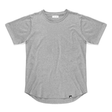 Pack of Three Curved Hem T-Shirts <br> Grey / Stone / Black