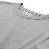Curved Hem T-Shirt <br> Grey Melange