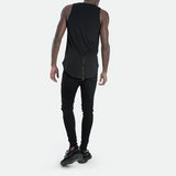 Longline Zip Vest <br> Pirate Black