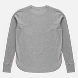 Curved Hem Rib Sweatshirt<br> Grey Melange