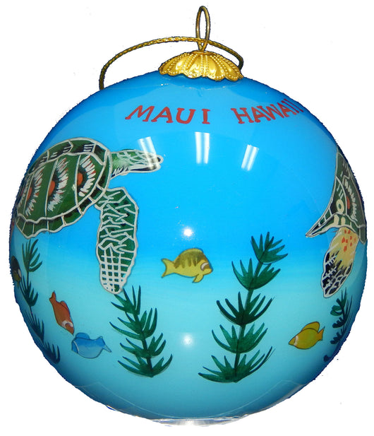 Sea Turtle (Honu) Christmas Ornament
