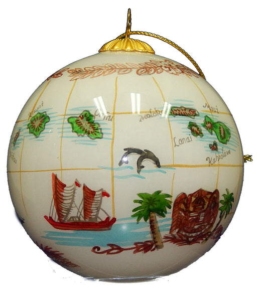 Hawaiian Island Chain Christmas Ornament