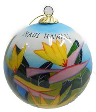 Hawaiian Bird of Paradise Christmas Ornament
