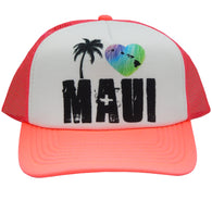 MAUI HEART AND PALM TREE CAP
