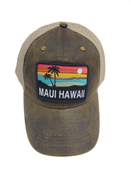 PALM TREE SUNSET HAT