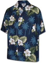Pacific Legend Boys White Hibiscus Monstera Shirt