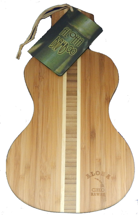 UKULELE BAMBOO CUTTING BOARD