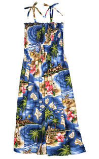 RJC Womens S - XL Hibiscus Hawaiian Island Elastic Tube Top Sundress
