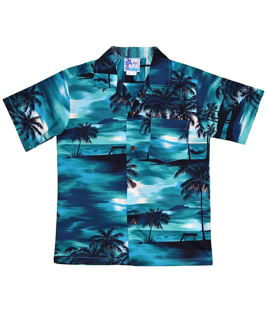 Men's Waimea Sunset Hawaiian Shirt