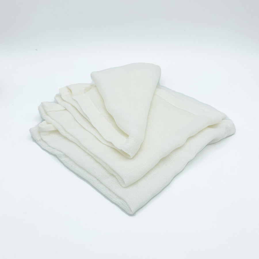 Pack of 3 organic muslin cloths - Kaloneu