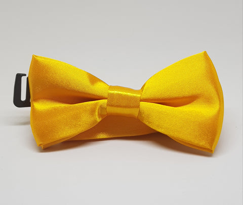 Bow Tie - Yellow Satin - Three Bears Kids