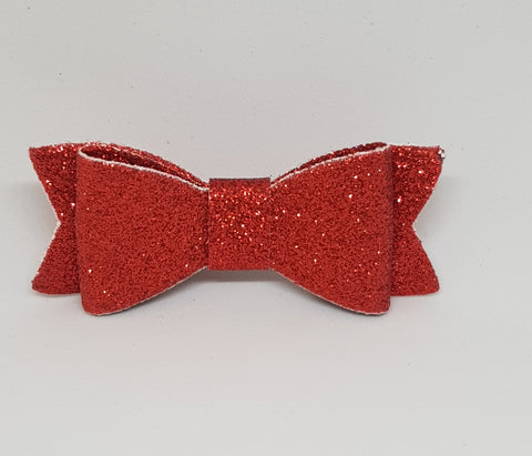 Bow Hair Clip - Glitter Red - Three Bears Kids