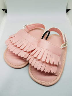 Baby Fringe Sandals - Pink Blush - Three Bears Kids