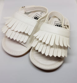 Baby Fringe Sandals - White - Three Bears Kids