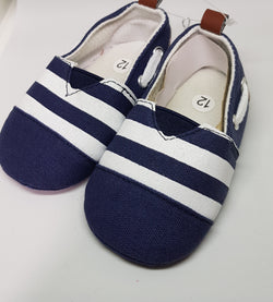 Navy And White Slip Ons