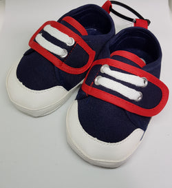 Navy And Red Velcro Sneakers