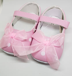 Pink Bow Mary Janes